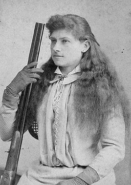 Portrait of a young Annie Oakley